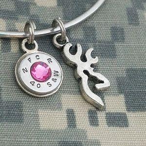40 caliber bullet pink browning bracelet